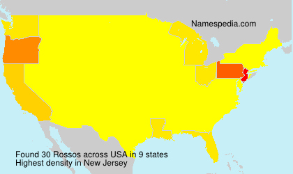 Surname Rossos in USA
