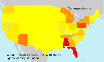 Surname Rostas in USA
