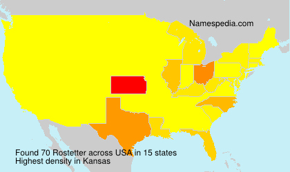 Surname Rostetter in USA