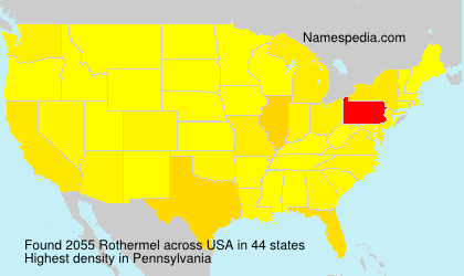Surname Rothermel in USA