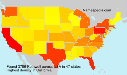 Surname Rothwell in USA