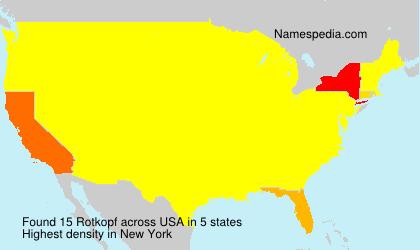 Familiennamen Rotkopf - USA