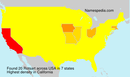 Surname Rotsart in USA