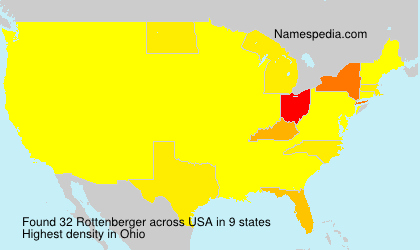 Surname Rottenberger in USA