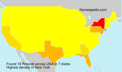 Surname Rotundi in USA