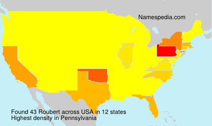 Familiennamen Roubert - USA