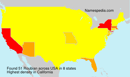 Surname Roubian in USA