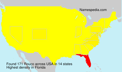 Surname Rouco in USA