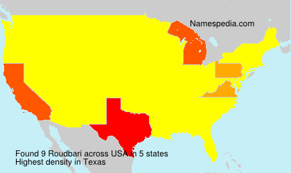 Surname Roudbari in USA