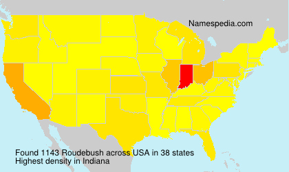 Surname Roudebush in USA