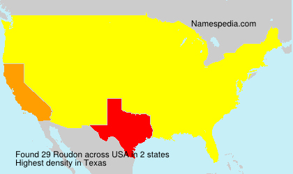 Surname Roudon in USA