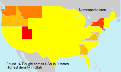 Surname Rougle in USA