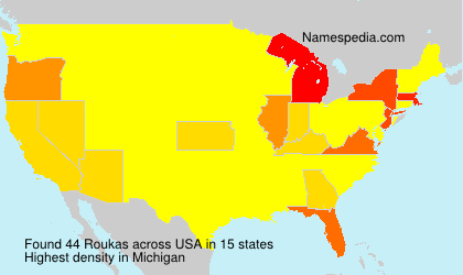 Surname Roukas in USA
