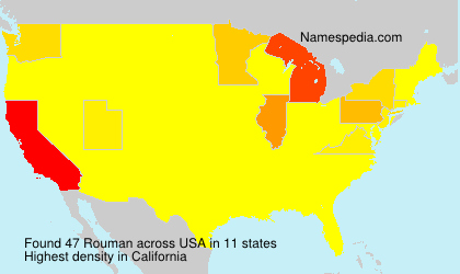 Surname Rouman in USA