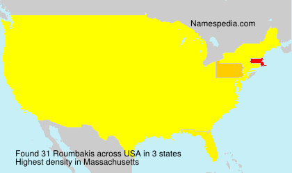 Surname Roumbakis in USA