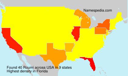 Familiennamen Roumi - USA
