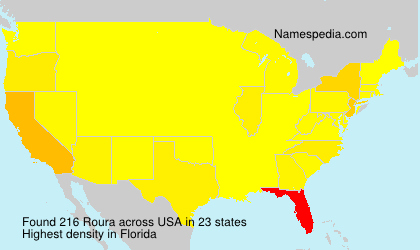 Surname Roura in USA