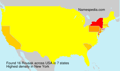 Surname Rousak in USA