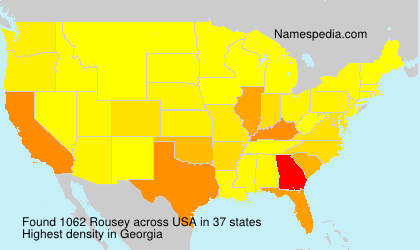 Surname Rousey in USA