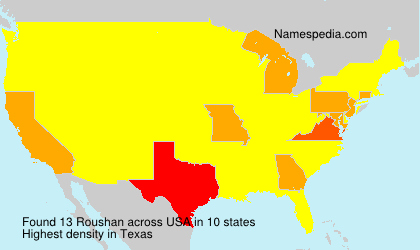 Surname Roushan in USA