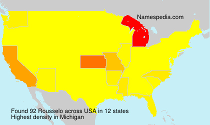 Surname Rousselo in USA