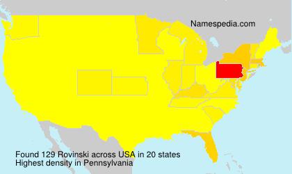 Familiennamen Rovinski - USA