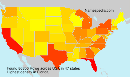 Surname Rowe in USA