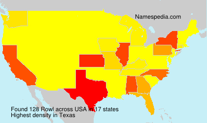 Surname Rowl in USA