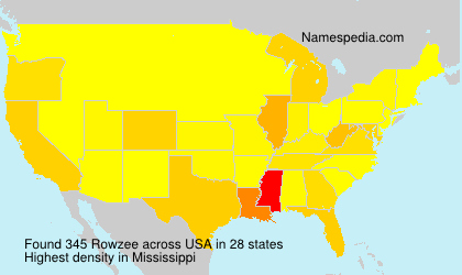Surname Rowzee in USA
