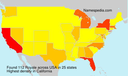 Surname Royale in USA