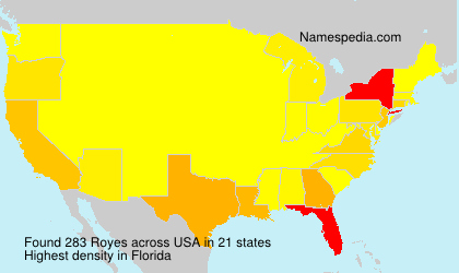 Surname Royes in USA