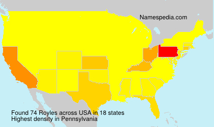 Surname Royles in USA