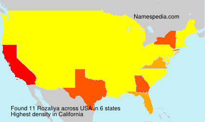 Surname Rozaliya in USA