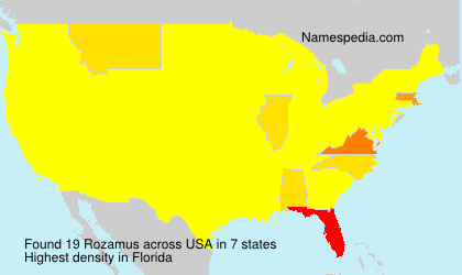 Surname Rozamus in USA