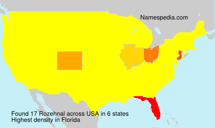 Surname Rozehnal in USA