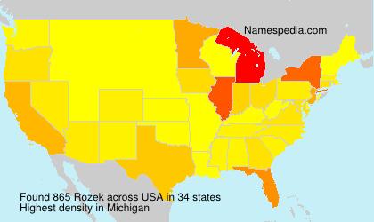 Familiennamen Rozek - USA