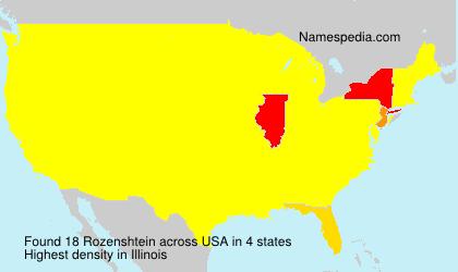Surname Rozenshtein in USA
