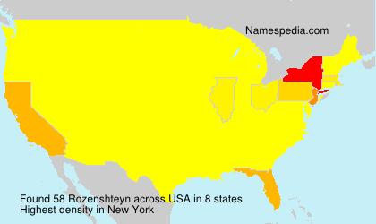 Familiennamen Rozenshteyn - USA