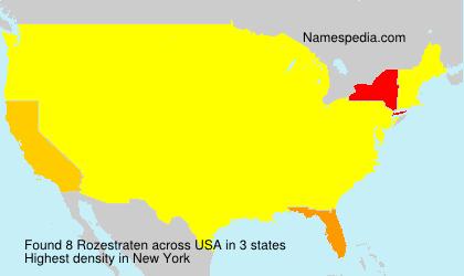 Familiennamen Rozestraten - USA