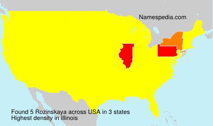 Surname Rozinskaya in USA