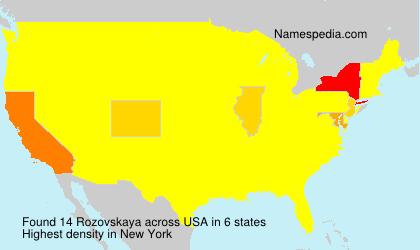 Rozovskaya - USA