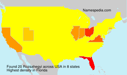 Surname Rozsahegyi in USA