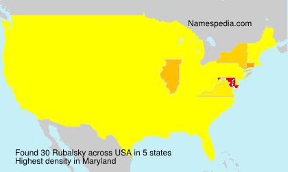 Familiennamen Rubalsky - USA
