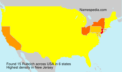 Surname Rubcich in USA