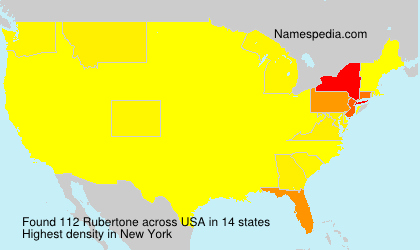Surname Rubertone in USA