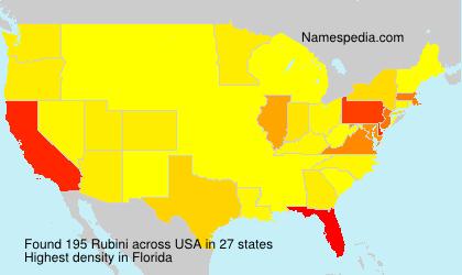 Surname Rubini in USA