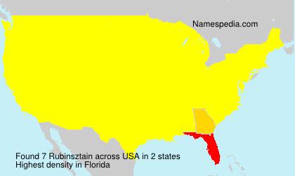 Familiennamen Rubinsztain - USA