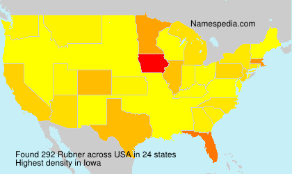 Surname Rubner in USA