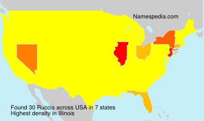 Familiennamen Ruccia - USA
