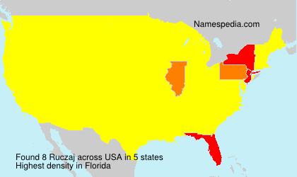Familiennamen Ruczaj - USA